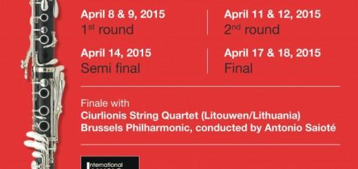 3er Concurso de Clarinete en Ghent, Bélgica