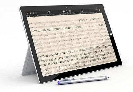 Aplicación de notación musical StaffPad